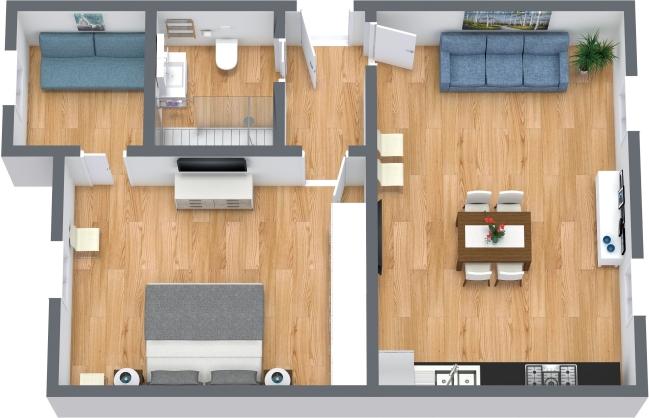 Planimétrie Appartement N.439