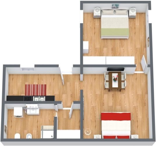 Planimétrie Appartement N.443
