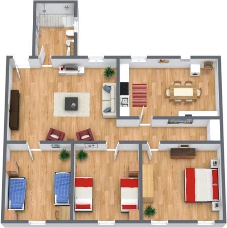 Planimétrie Appartement N.45