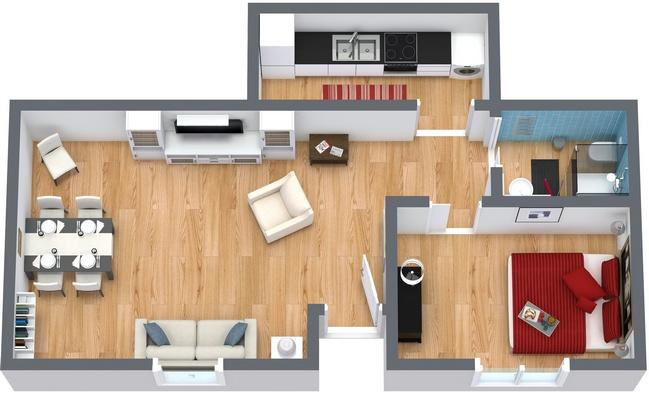 Planimétrie Appartement N.50