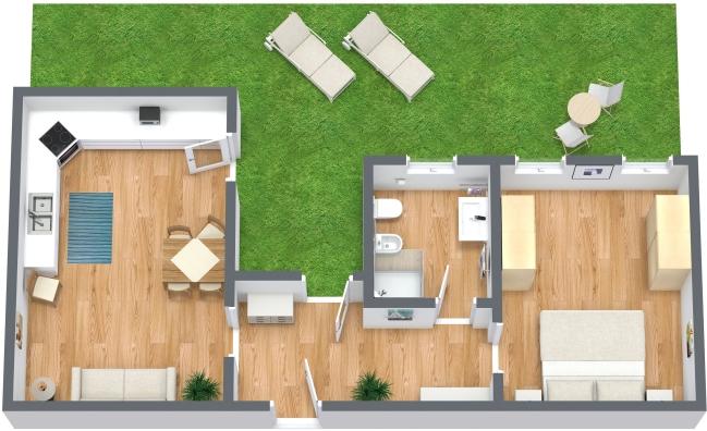 Planimétrie Appartement N.6