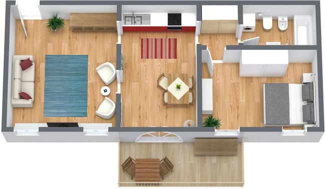 Planimétrie Appartement N.63