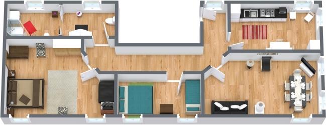Planimétrie Appartement N.64