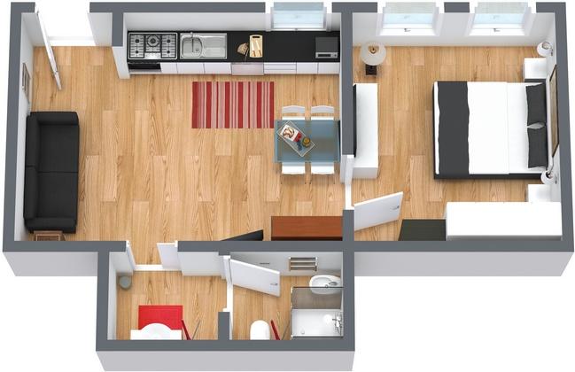 Planimétrie Appartement N.66
