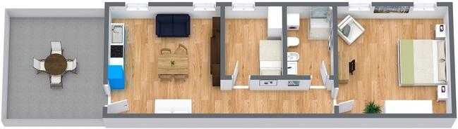 Planimétrie Appartement N.8