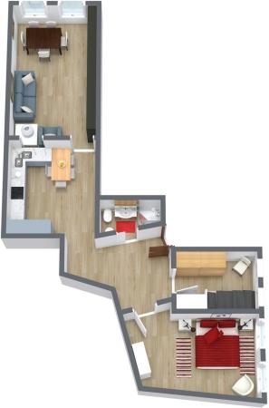 Planimétrie Appartement N.9