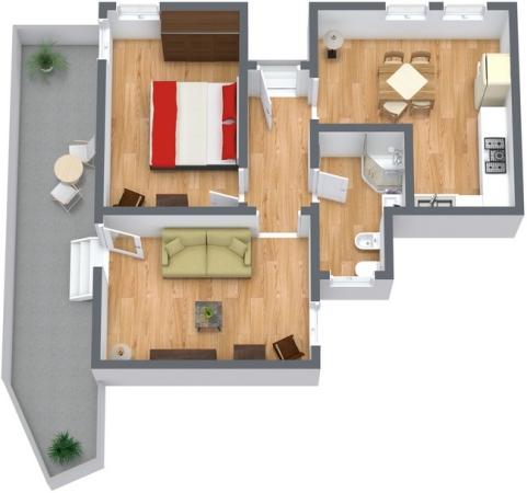 Planimétrie Appartement N.91